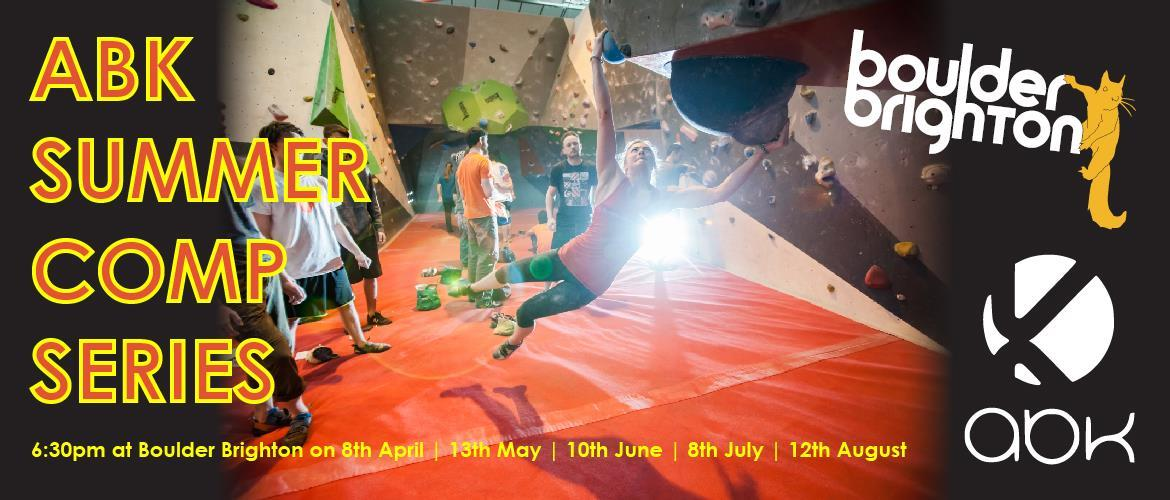 Boulder Brighton ABK Summer Comp Series starts 8th April