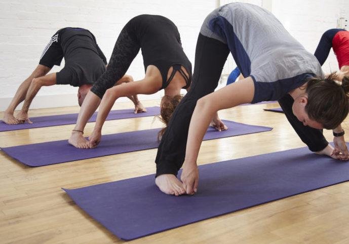 Yoga wide legged bend