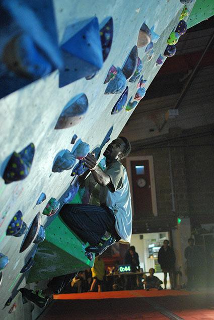 Student climbing at Boulder Brighton