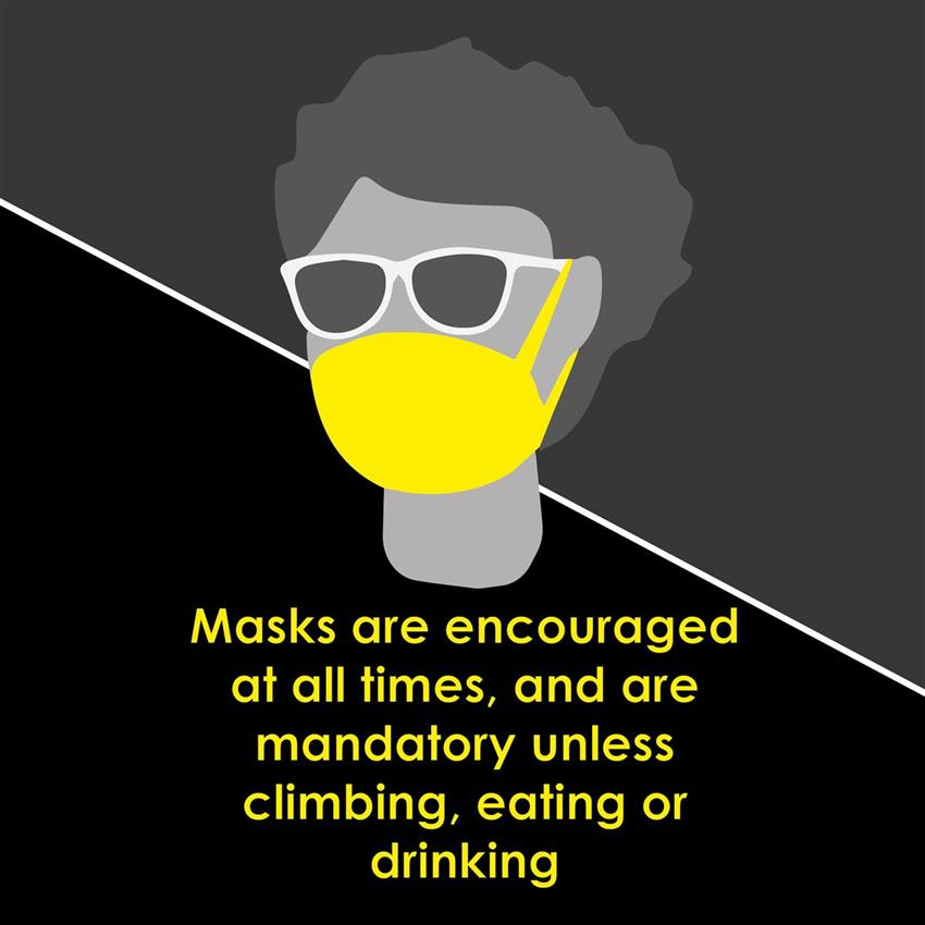 Updated face masks policy
