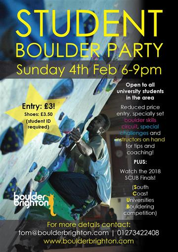 Student Boulder Party and SCUB!